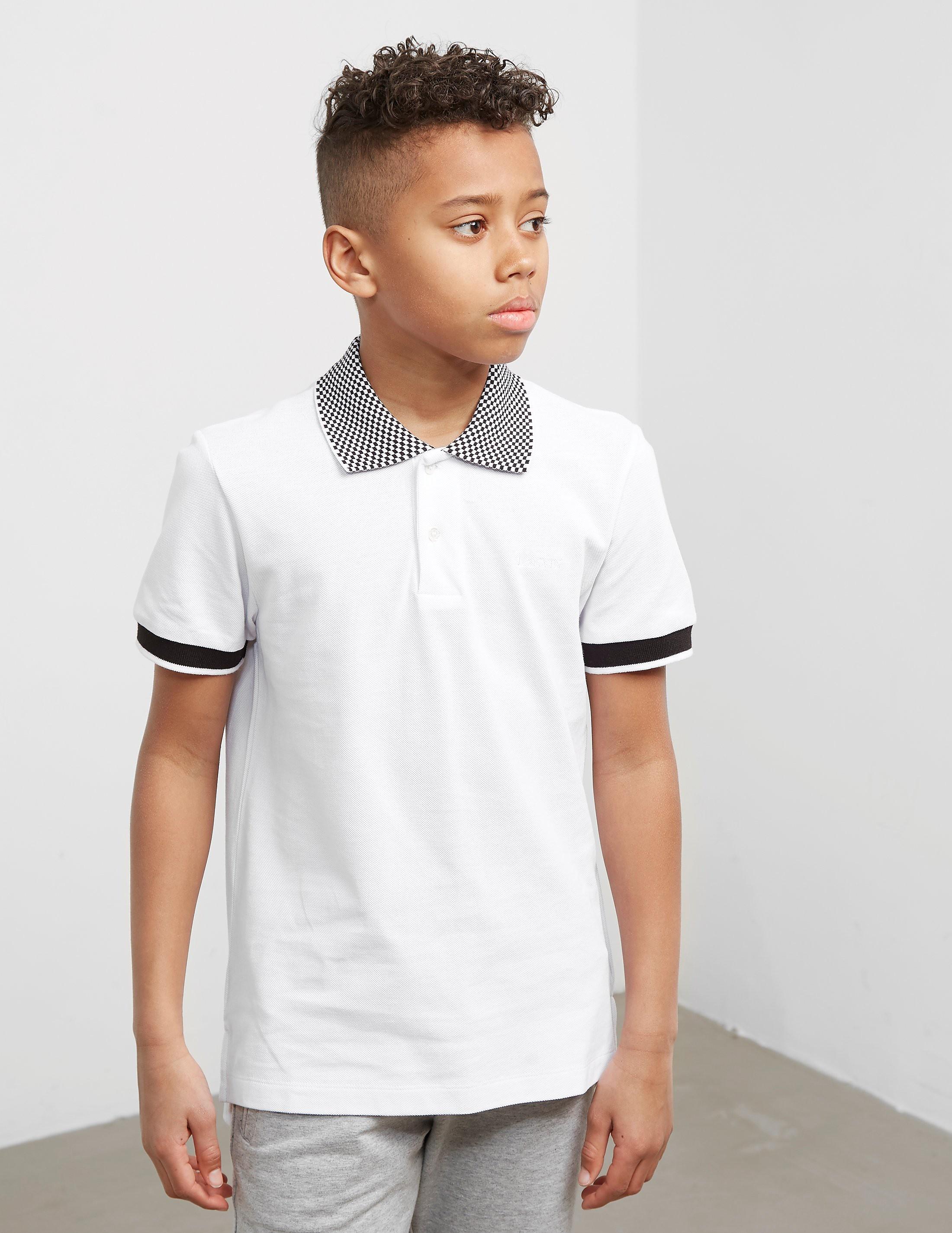 Lanvin Check Collar Short Sleeve Polo Shirt