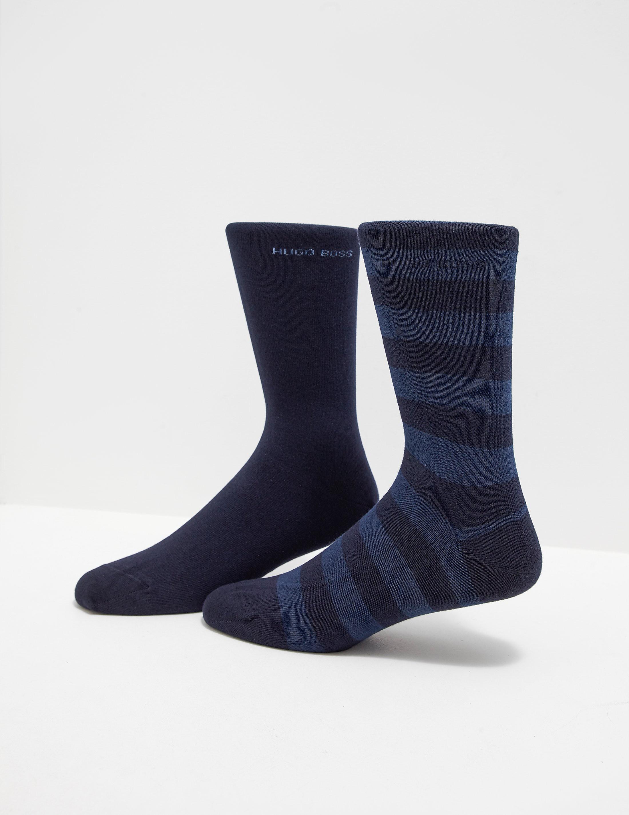 BOSS Two Pack Bold Stripe Socks