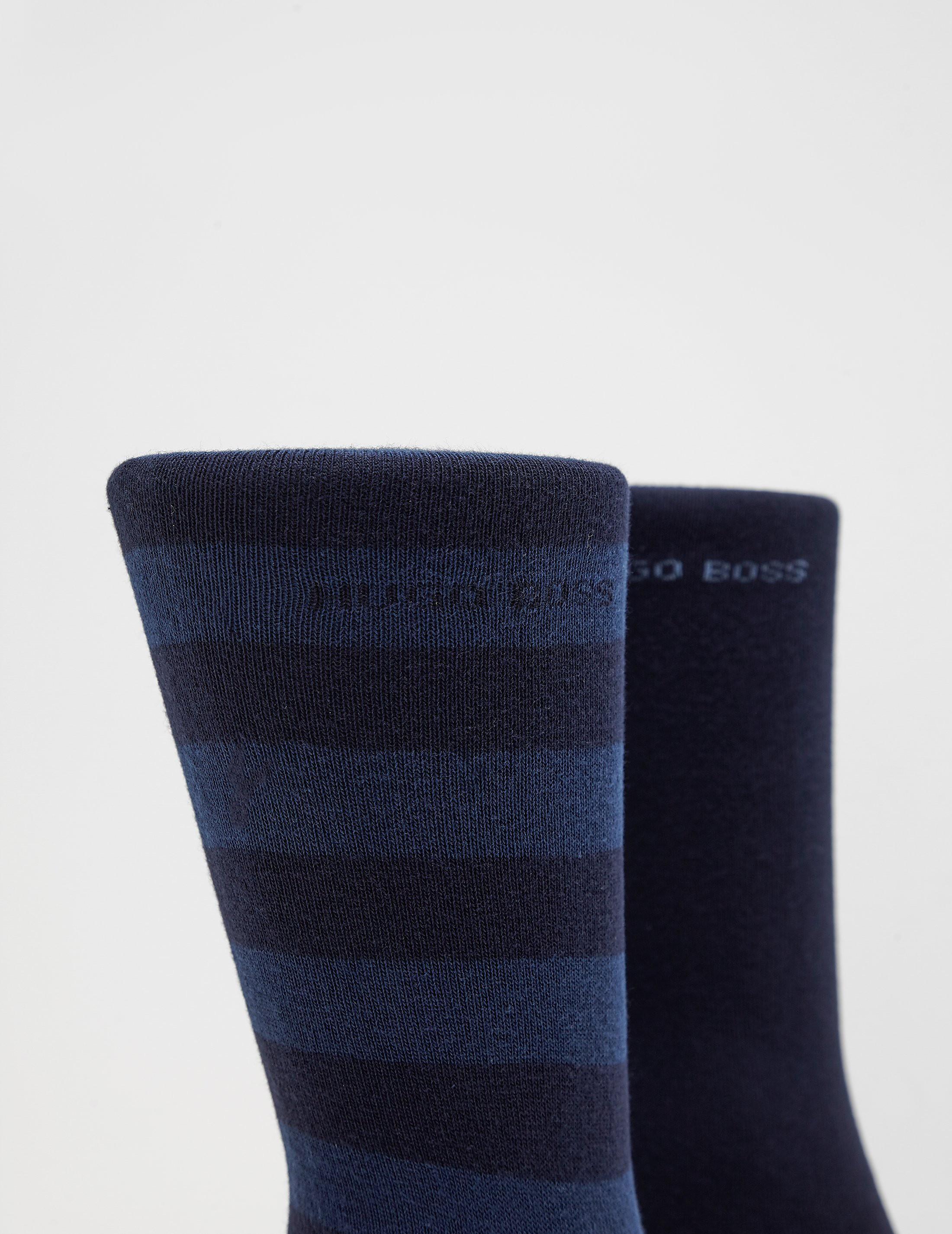 BOSS Two Pack Stripe Socks