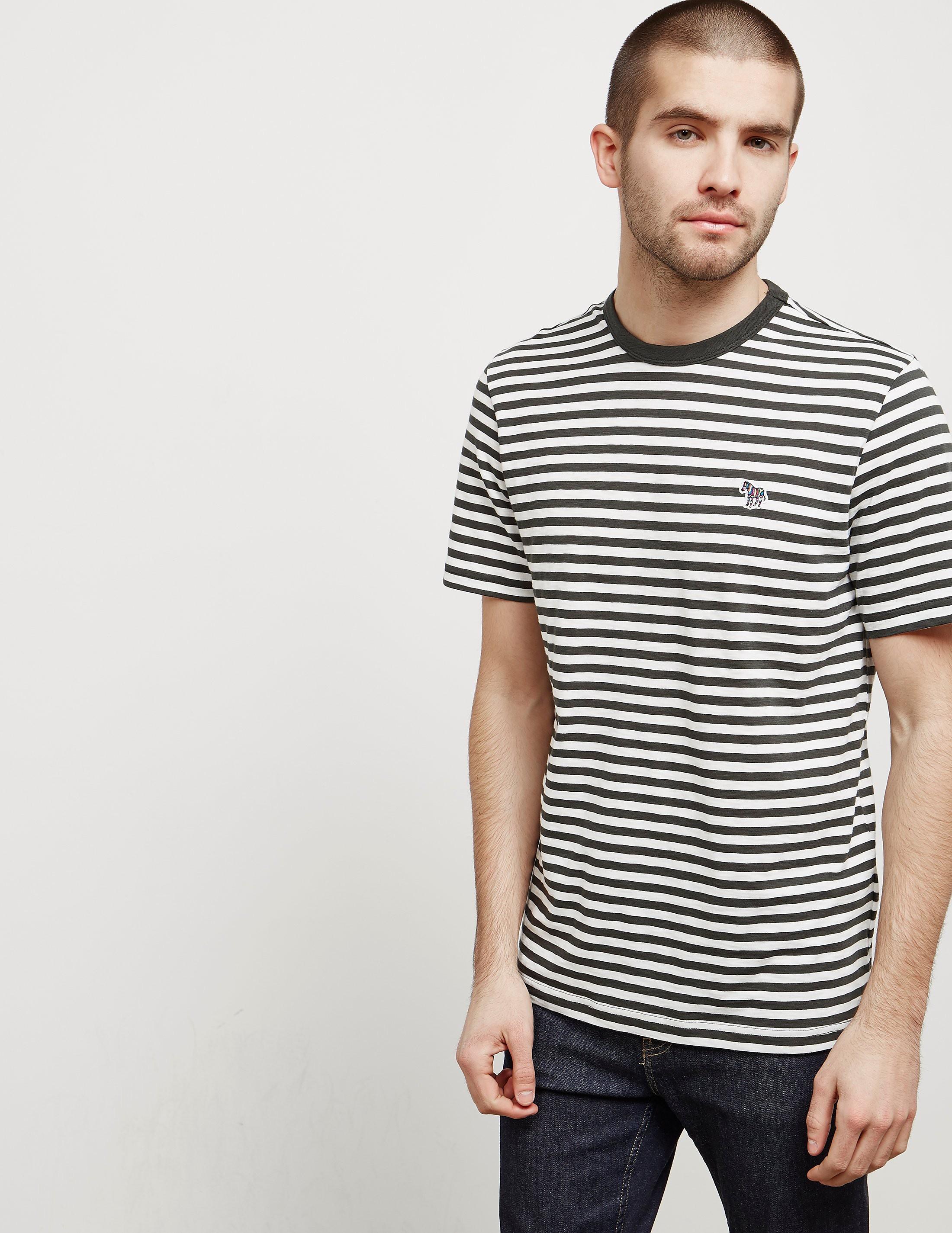 PS Paul Smith Breton Zebra Short Sleeve T-Shirt