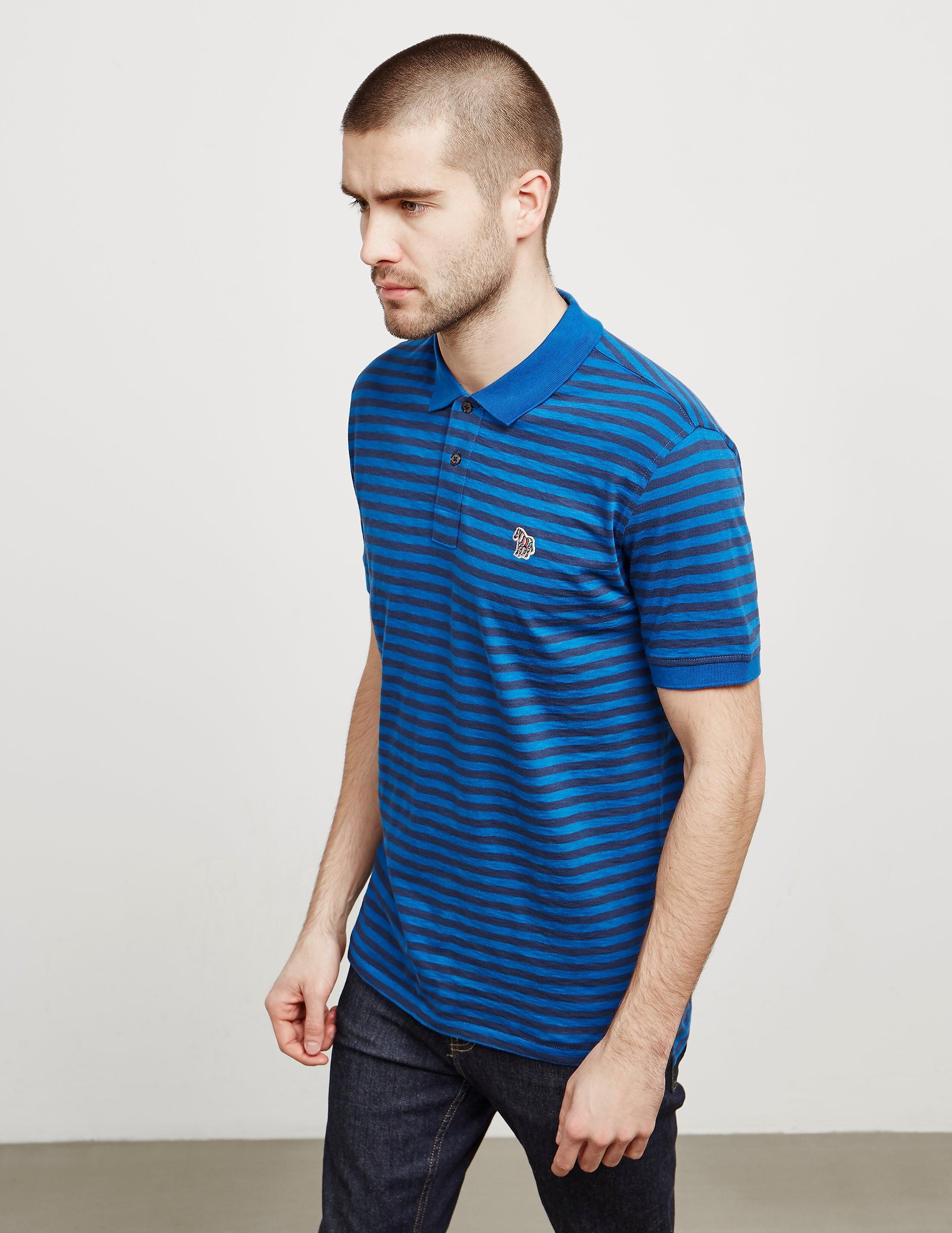 PS Paul Smith Breton Zebra Short Sleeve Polo Shirt