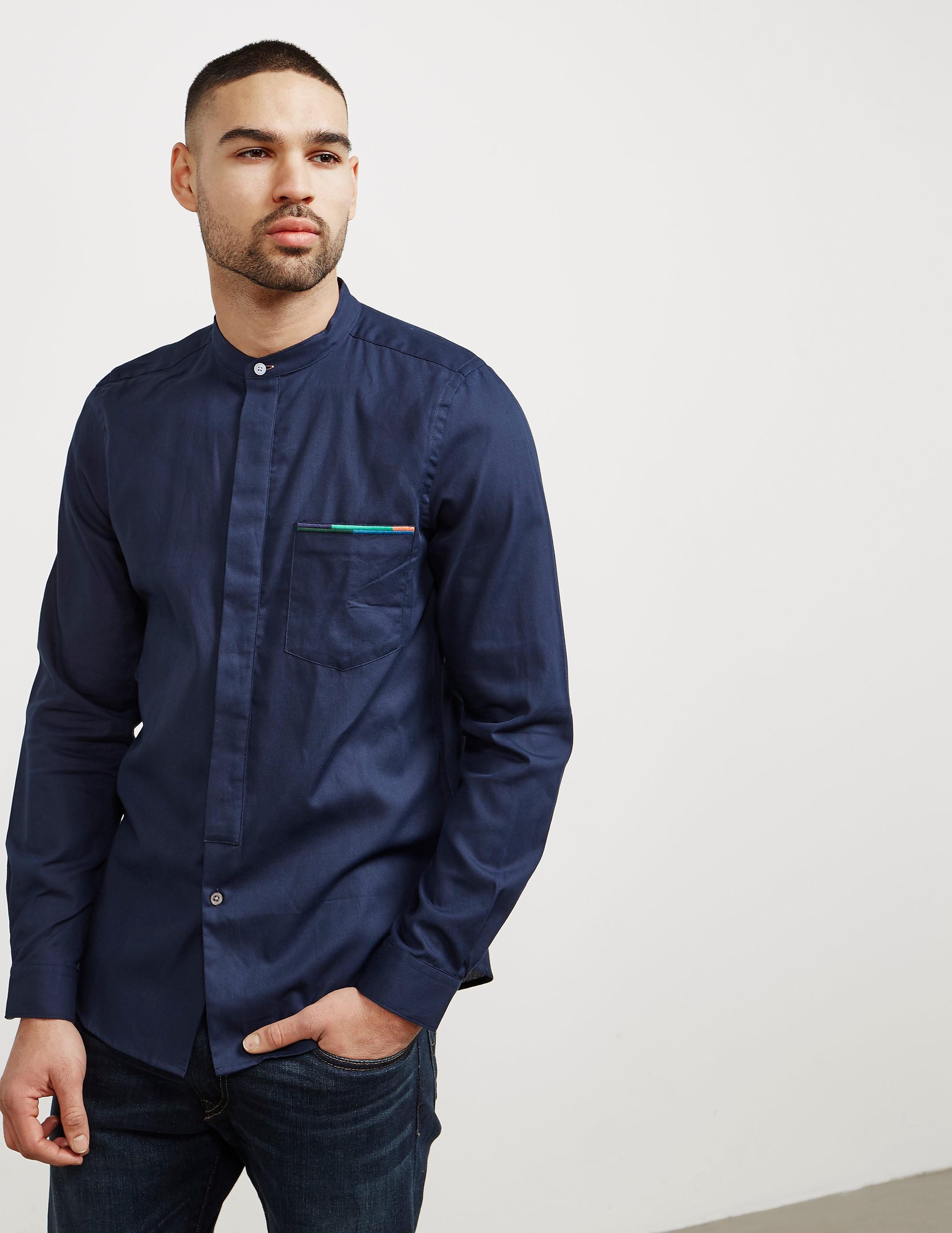 PS Paul Smith Pocket Granded Long Sleeve Shirt