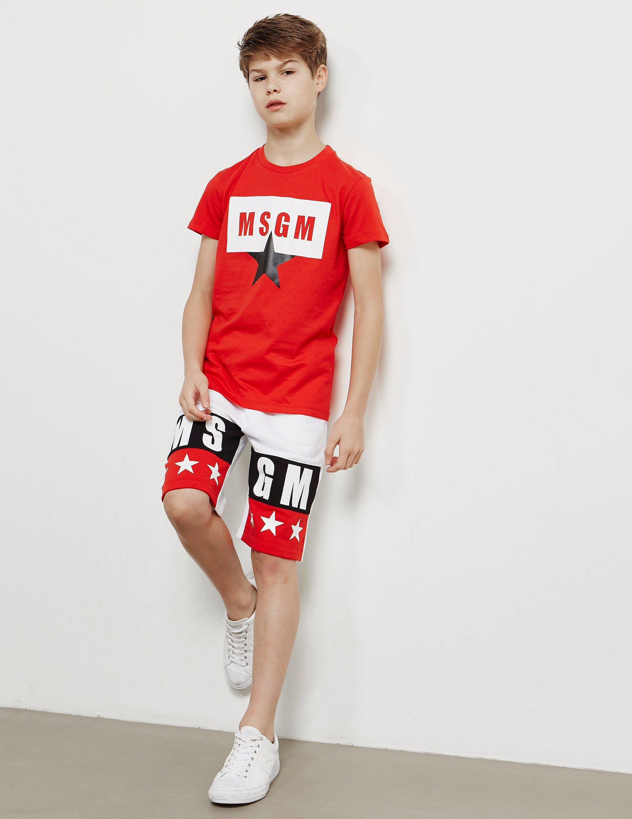 MSGM Star Logo Short Sleeve T-Shirt