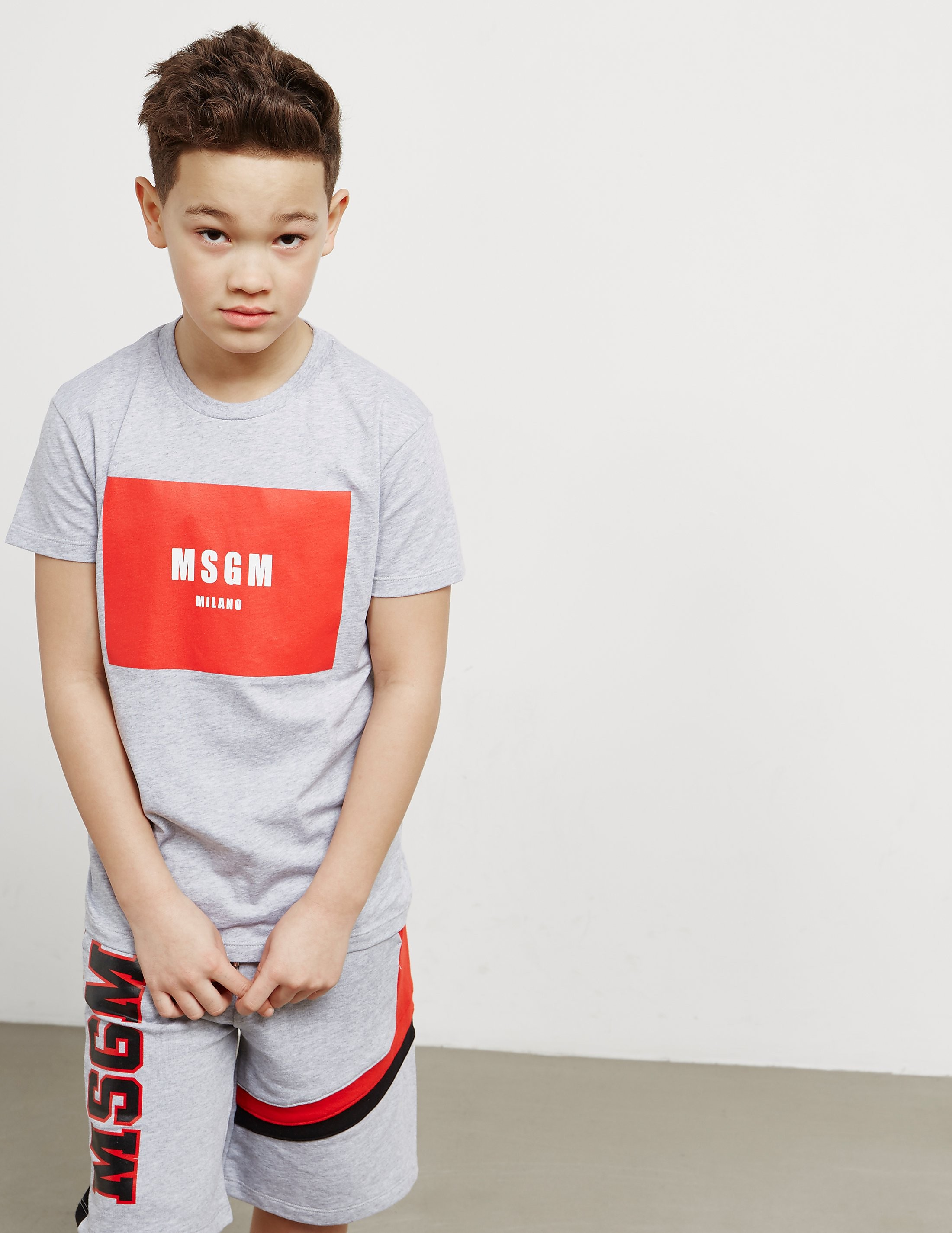 MSGM Box Logo Short Sleeve T-Shirt