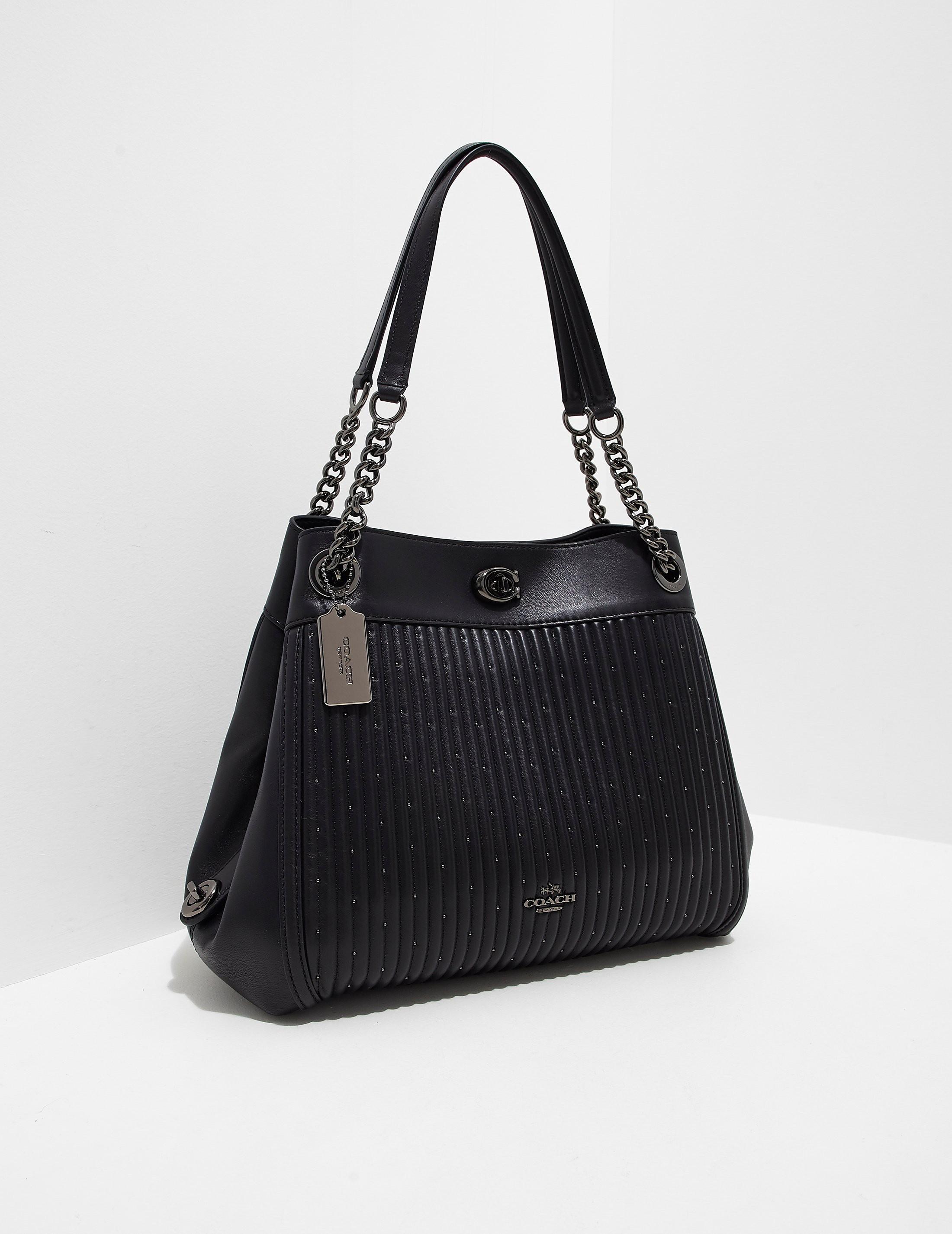 COACH Turnlock Edie Chain Bag