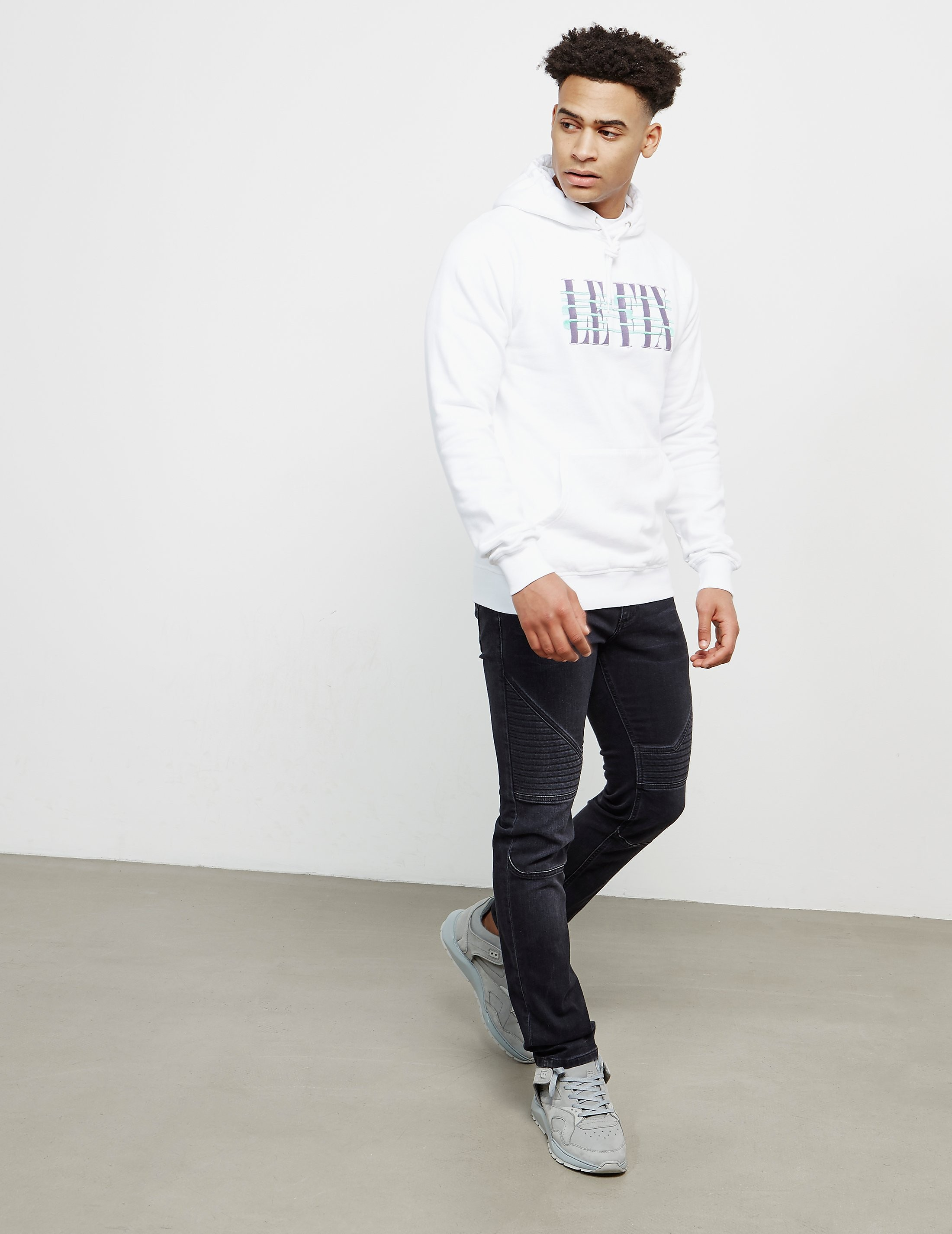 Le Fix Cross Out Logo Hoodie