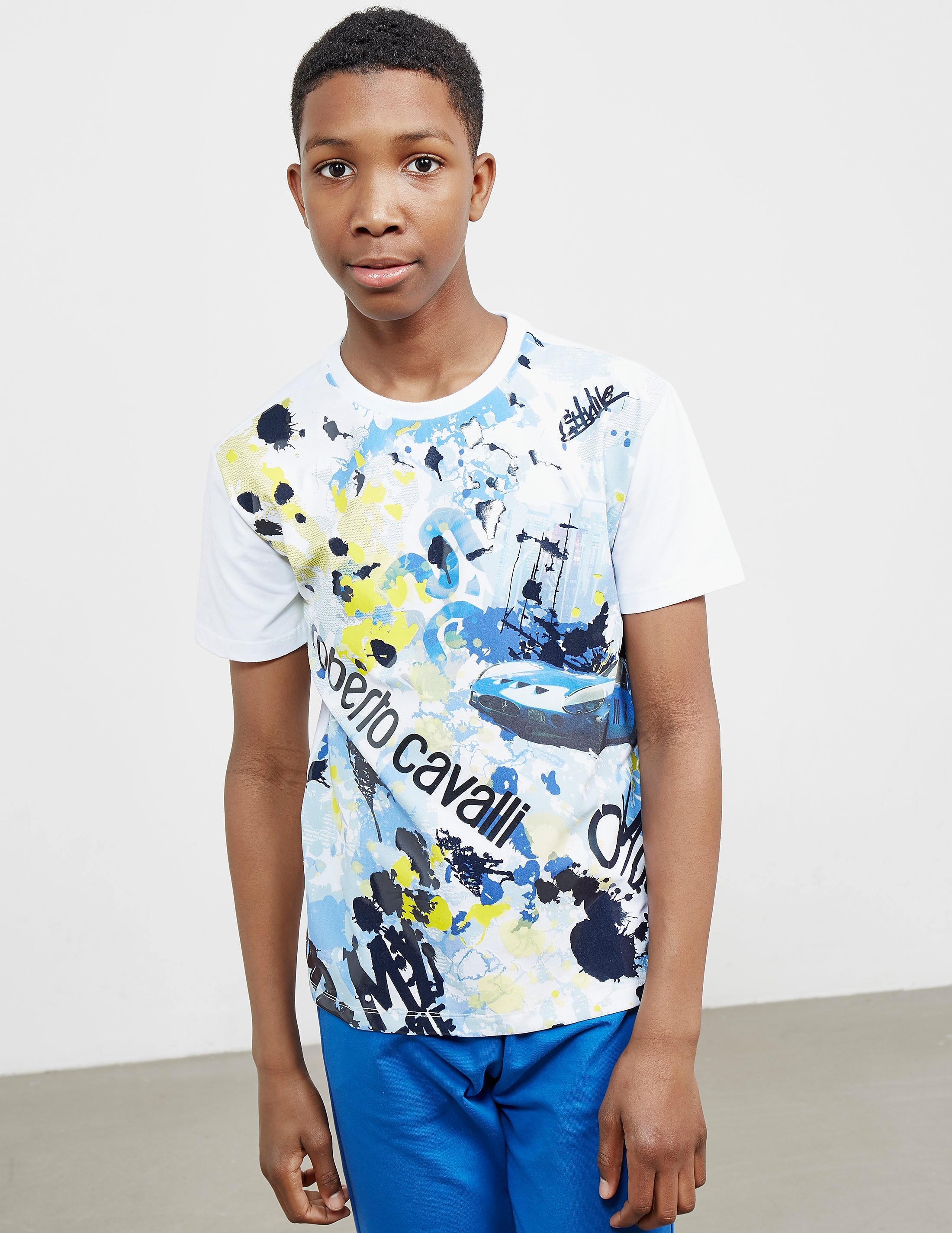 Just Cavalli Art City Short Sleeve T-Shirt