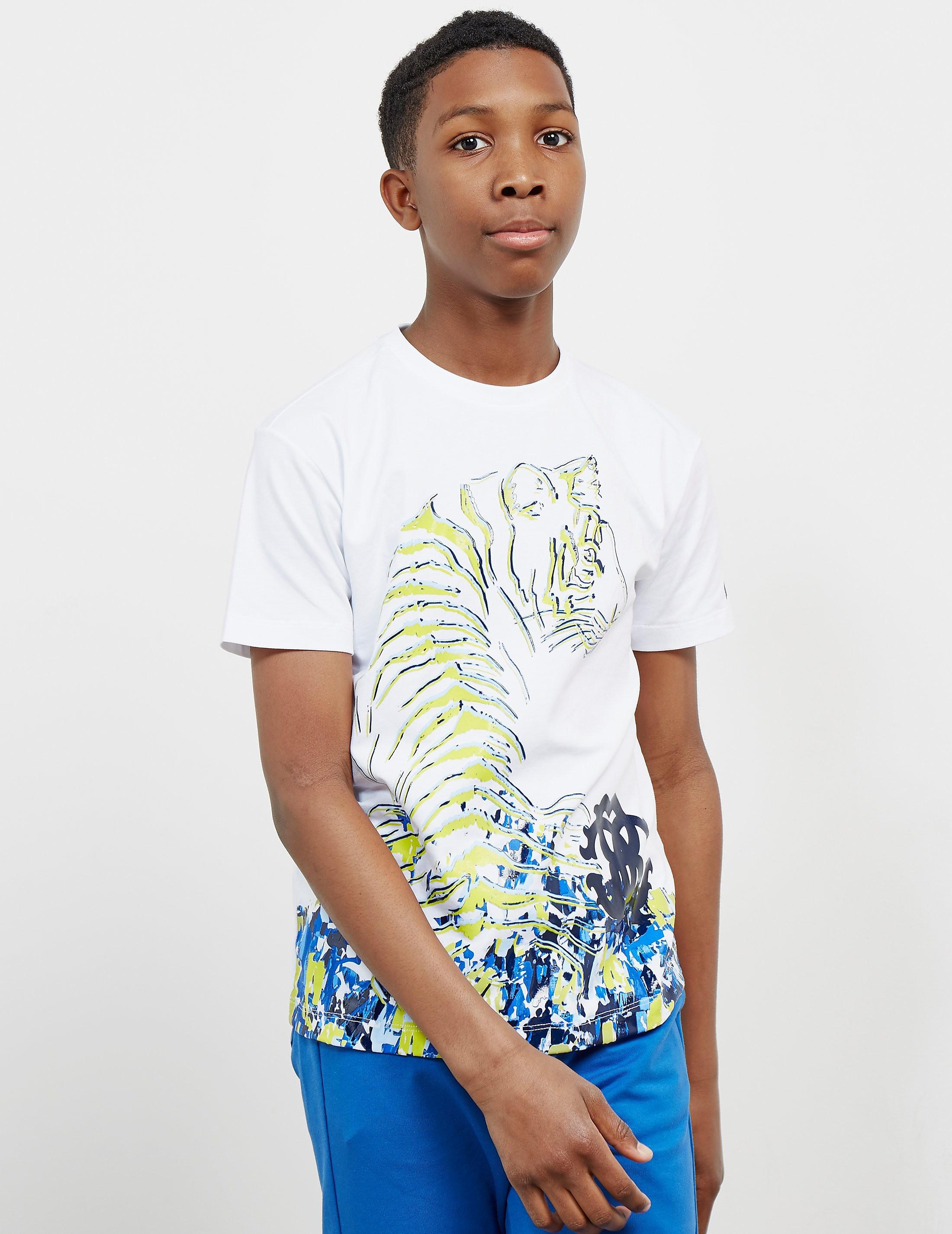 Roberto Cavalli Tiger Print Short Sleeve T-Shirt