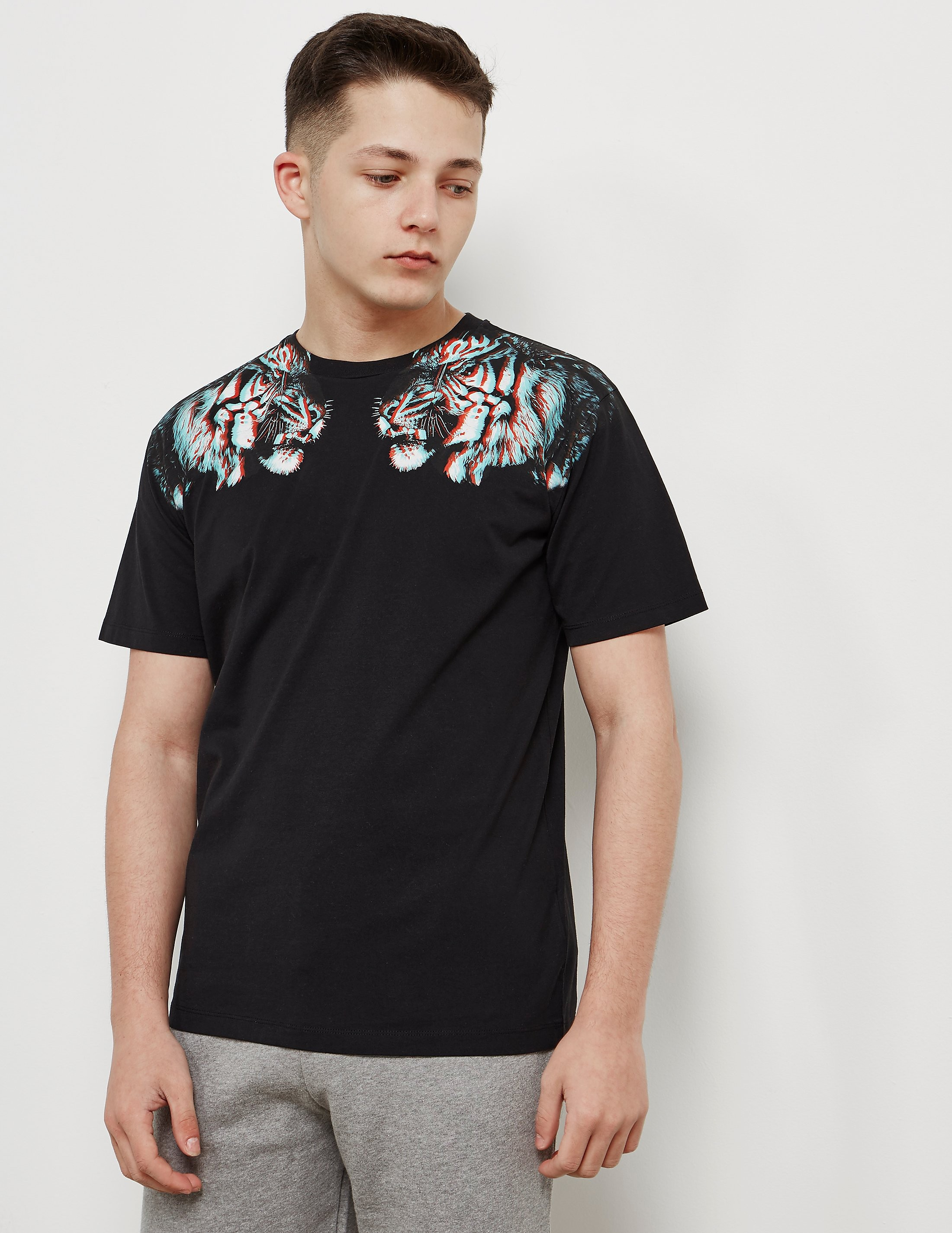 Marcelo Burlon 3D Tiger Short Sleeve T-Shirt