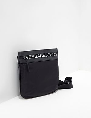 e21703e694d2 Versace Jeans Zip Logo Small Item Bag ...
