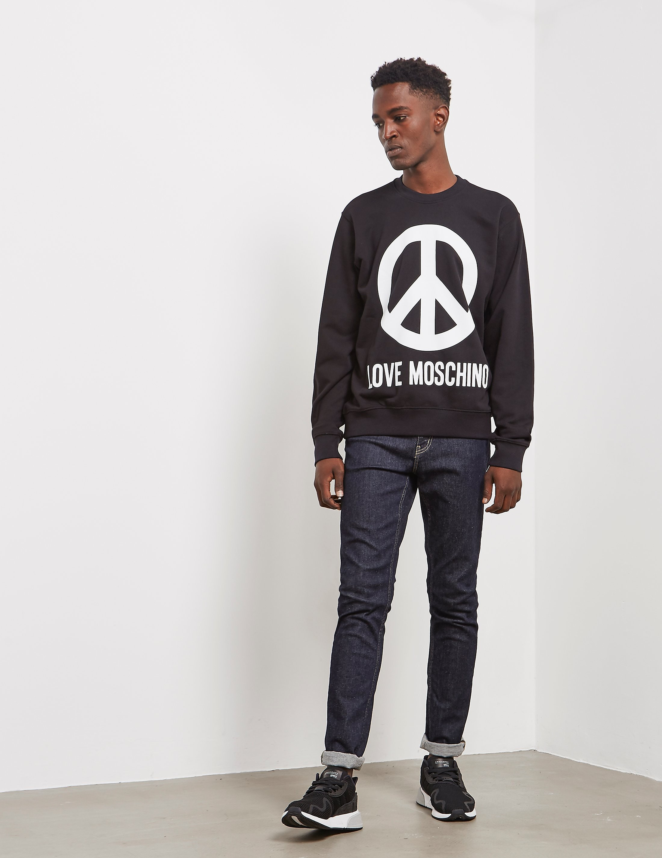 Love Moschino Large Peace Sweatshirt Love Moschino Large Peace Sweatshirt