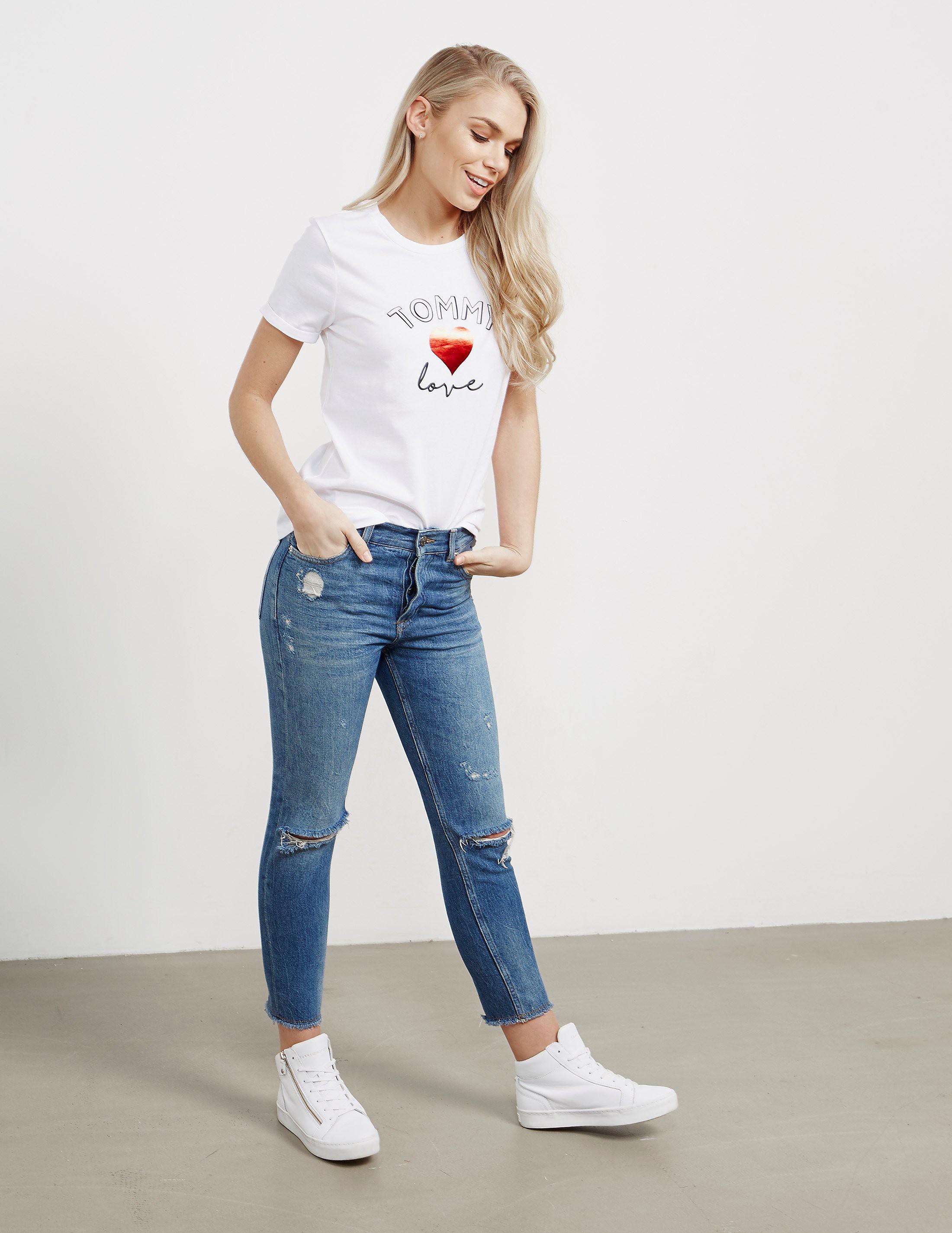 Tommy Hilfiger Logo Heart Short Sleeve T-Shirt