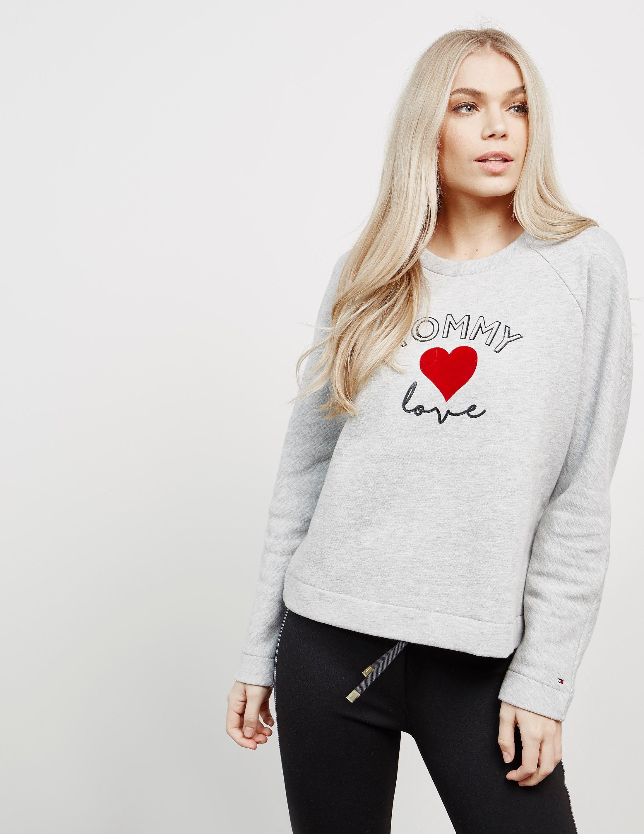 Tommy Hilfiger Red Heart Sweatshirt