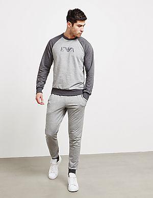 cb2c33da98c7 Emporio Armani Logo Cuffed Fleece Pants Emporio Armani Logo Cuffed Fleece  Pants