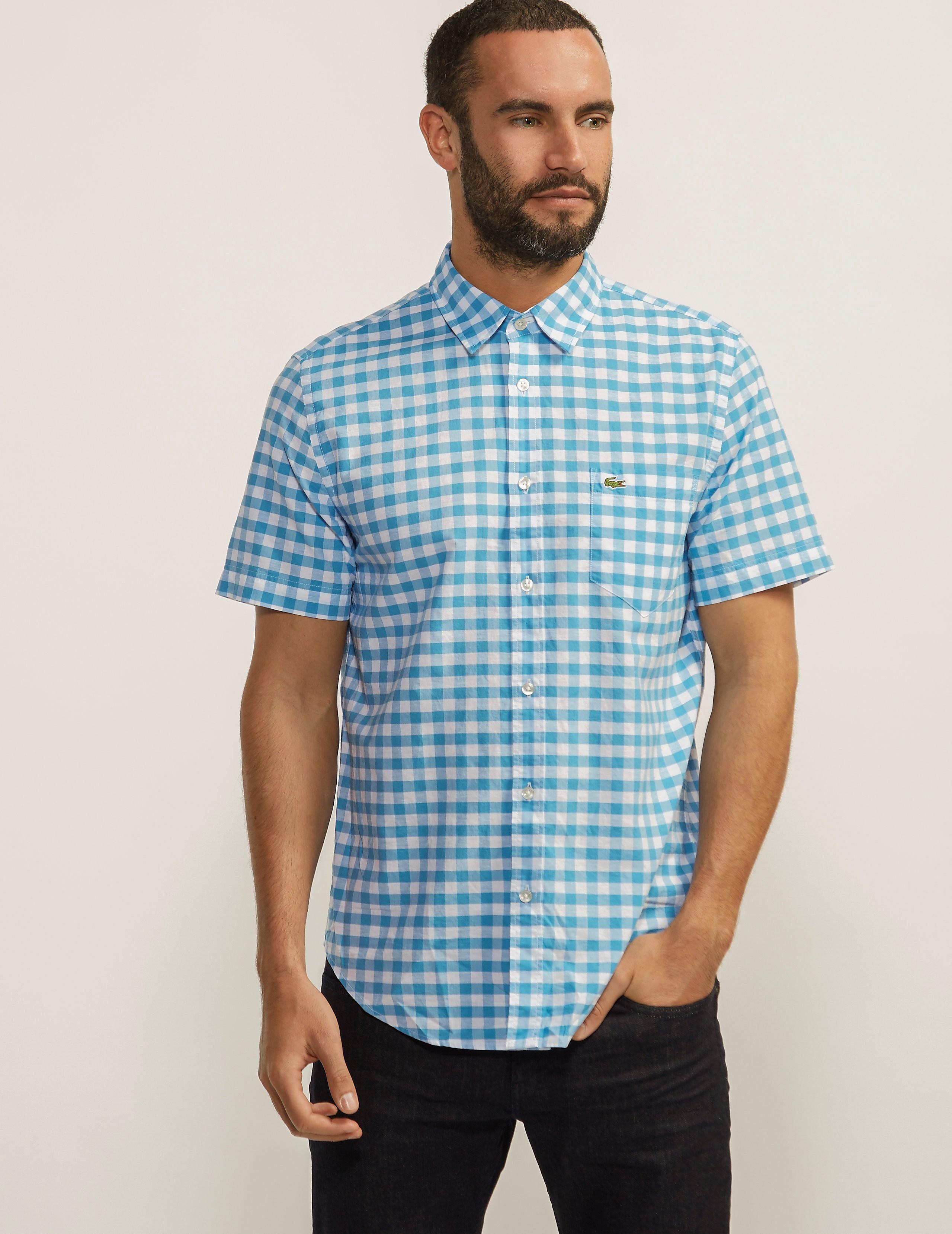 Lacoste Short Sleeved Gingham Shirt