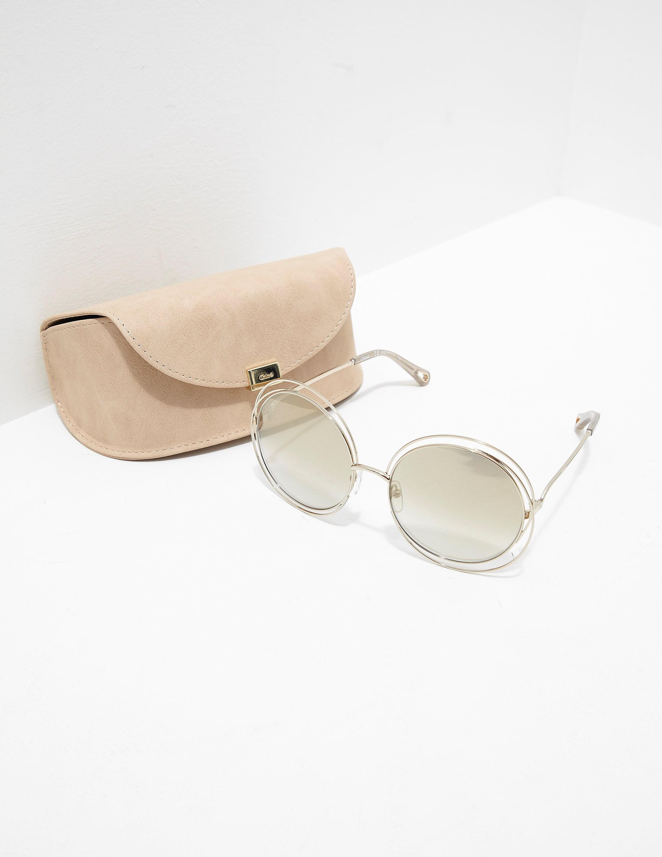 Chloe Metal Round Sunglasses