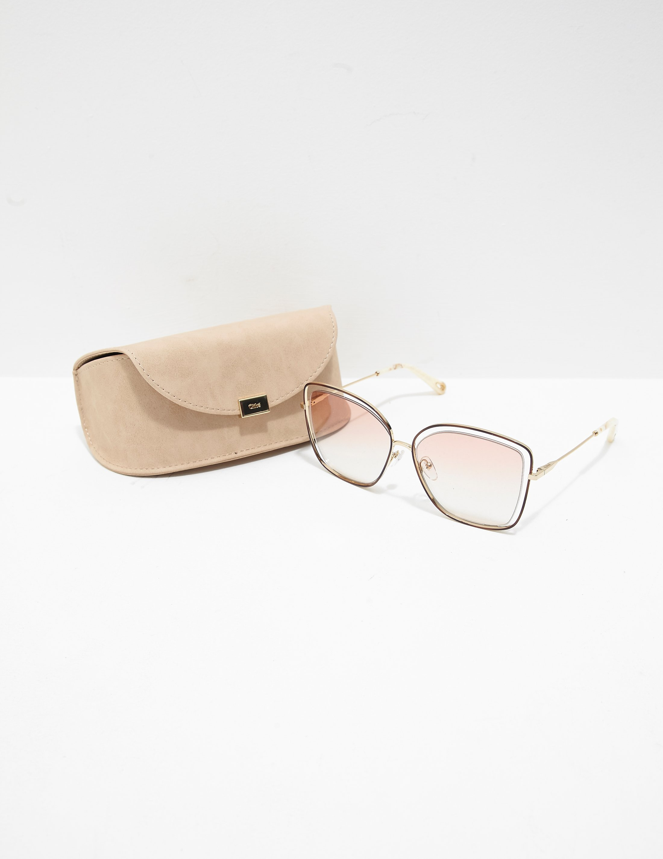 Chloe Square Metal Sunglasses - Online Exclusive