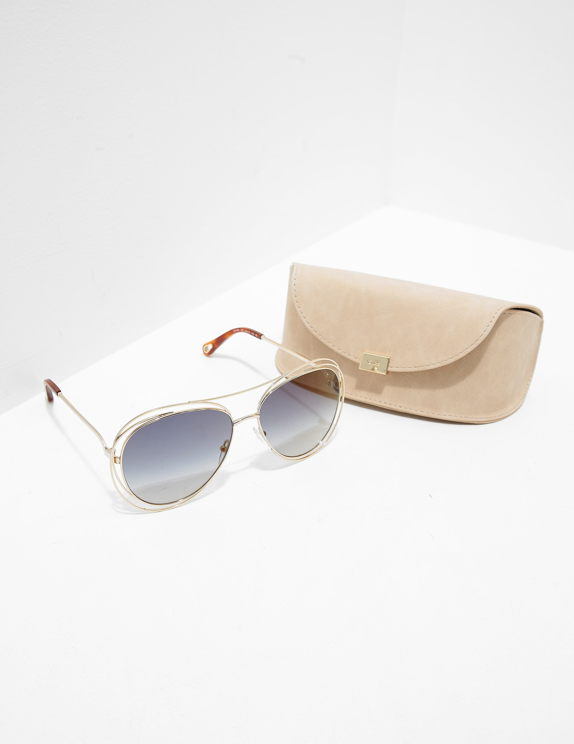 Chloe Aviator Metal Sunglasses - Online Exclusive