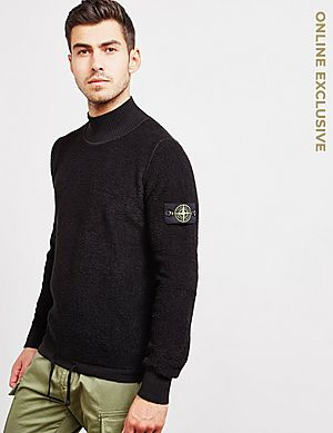 dc1811ae04d9 Stone Island Terry High Kneck Knit Jumper - Online Exclusive ...