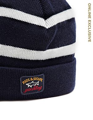 a9c5b6aafe898 Paul and Shark Stripe Beanie Paul and Shark Stripe Beanie