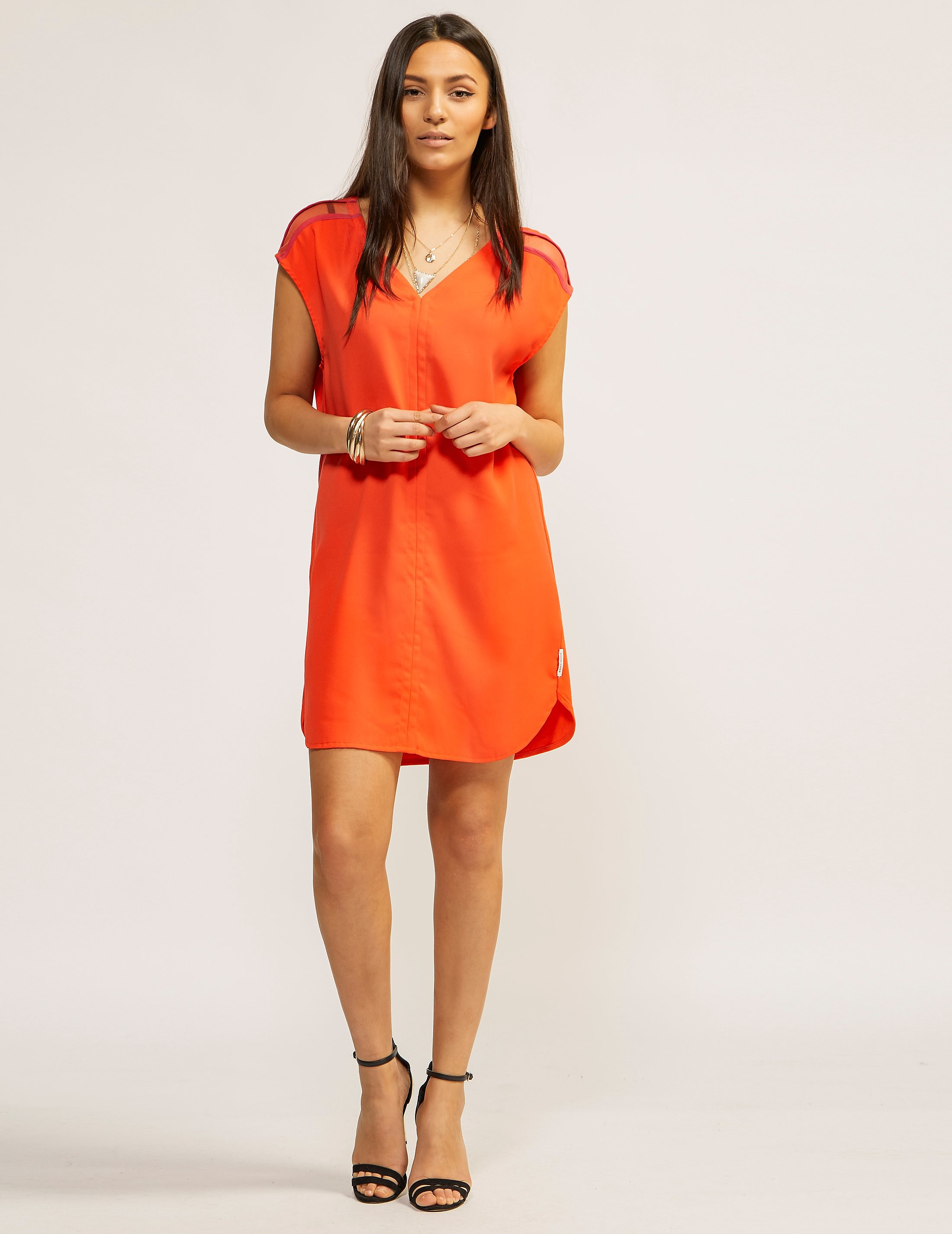 Maison Scotch V-Neck Jersey Dress