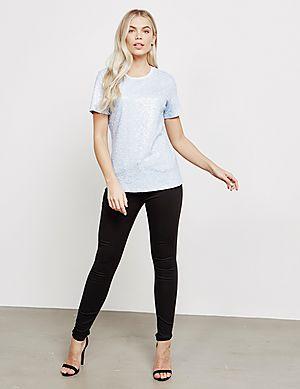 70445dfde65b ... DKNY Sequin Short Sleeve T-Shirt