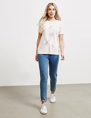 32e3cb89f040 ... DKNY Lace Graphic Short Sleeve T-Shirt