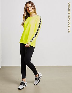 33c27fa7d29 ... DKNY Tape Fleece Crew Sweatshirt - Online Exclusive