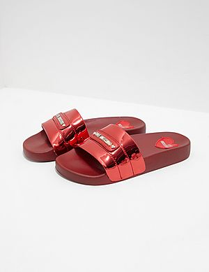1d8fe18e478c Love Moschino Quilted Slides ...