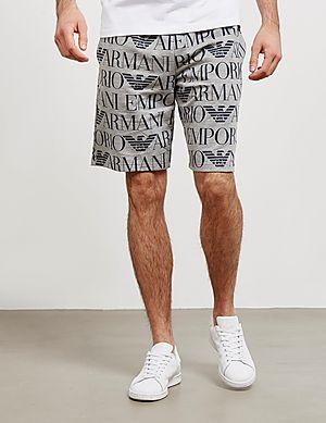 644e5831b0e20 Emporio Armani All Over Logo Shorts ...