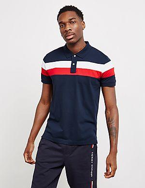 374b65ea539ec Tommy Hilfiger Chest Stripe Short Sleeve Polo Shirt ...