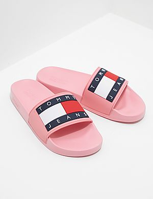 697dbba2ad3 Tommy Jeans Flag Slides Women s ...