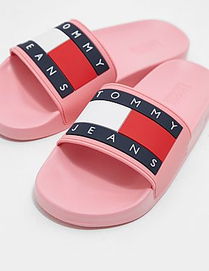 027fe4936de Tommy Jeans Flag Slides Women s Tommy Jeans Flag Slides Women s