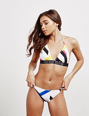 a9b606b8ee Calvin Klein Swim Print Tie Bikini Bottoms ...