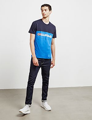 cce4c3b5744 ... Napapijri Colour Block Skydiver Short Sleeve T-Shirt