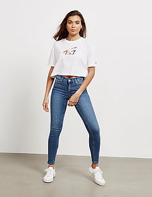 da695101948 ... Tommy Hilfiger Tommy Crop Short Sleeve T-Shirt