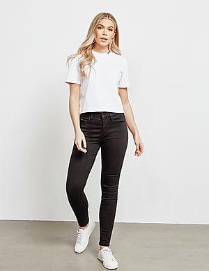 907a1dedbdcfe5 ... Calvin Klein Jeans Neck Logo Crop Short Sleeve T-Shirt