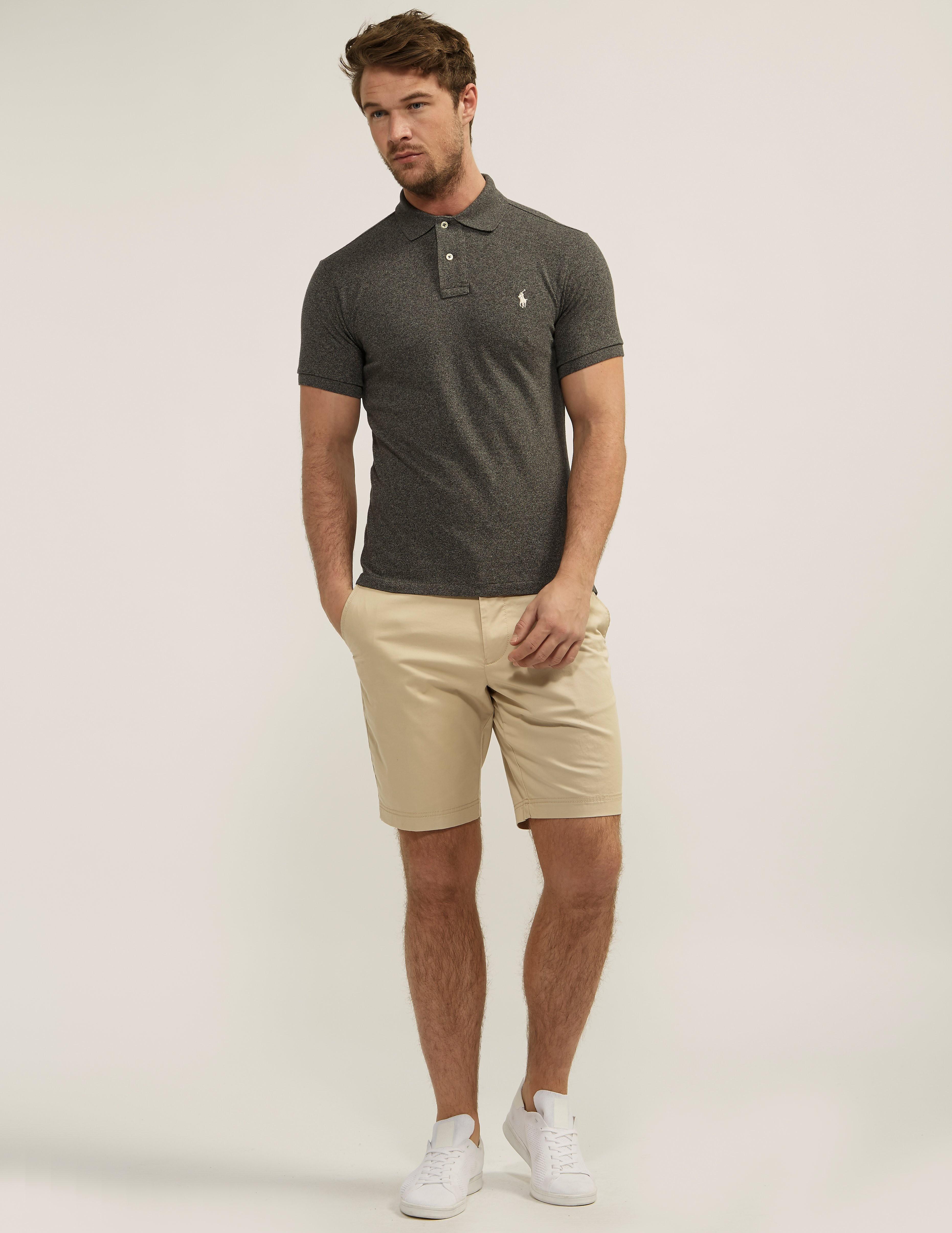 Polo Ralph Lauren Marl Slim Fit Short Sleeve Polo Shirt