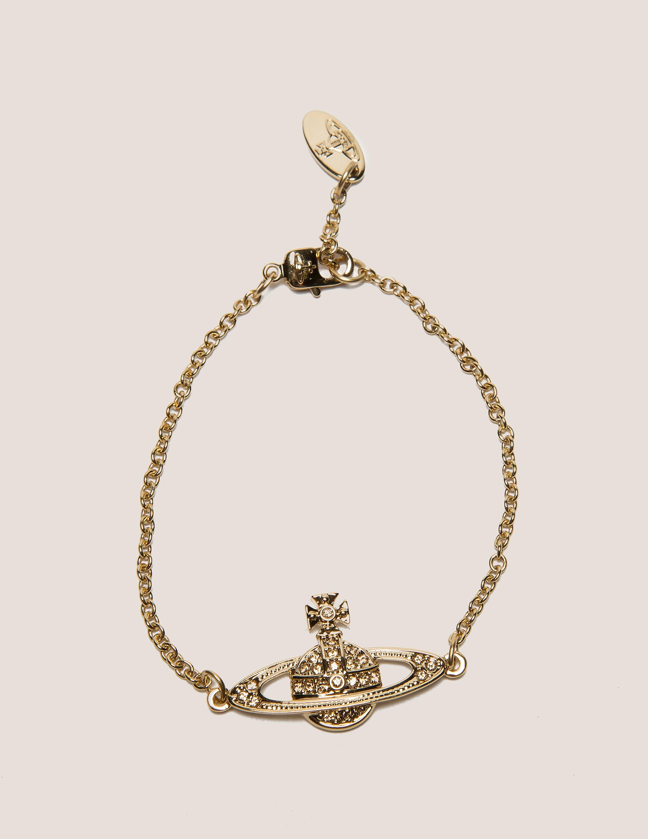 Vivienne Westwood Mini Brass Relief Chain Bracelet