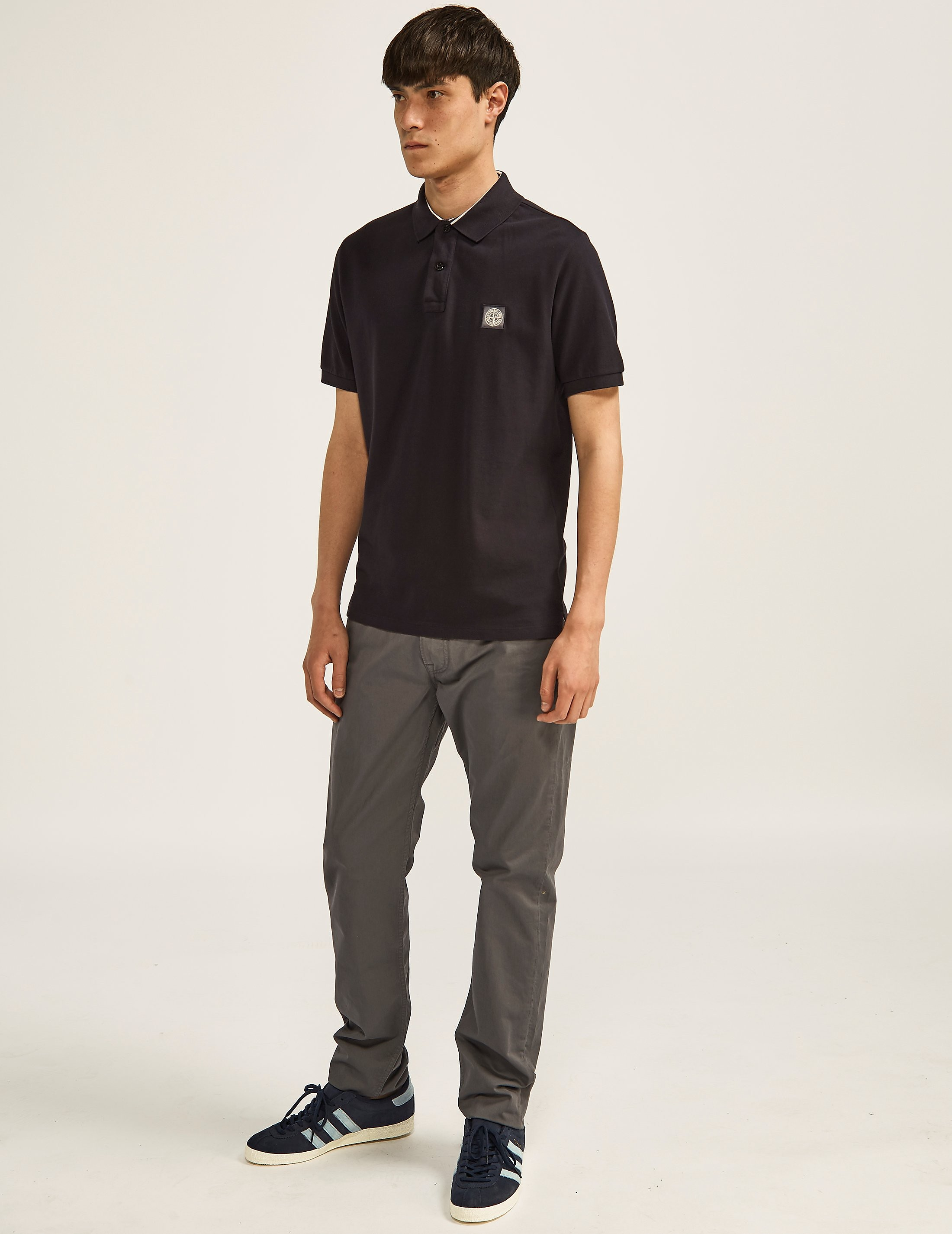Stone Island Tapered Fit Gabardine Jeans
