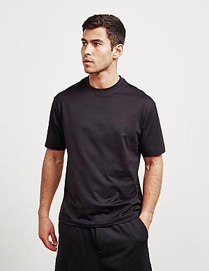 10a526472 Y-3 Back Script Short Sleeve T-Shirt ...
