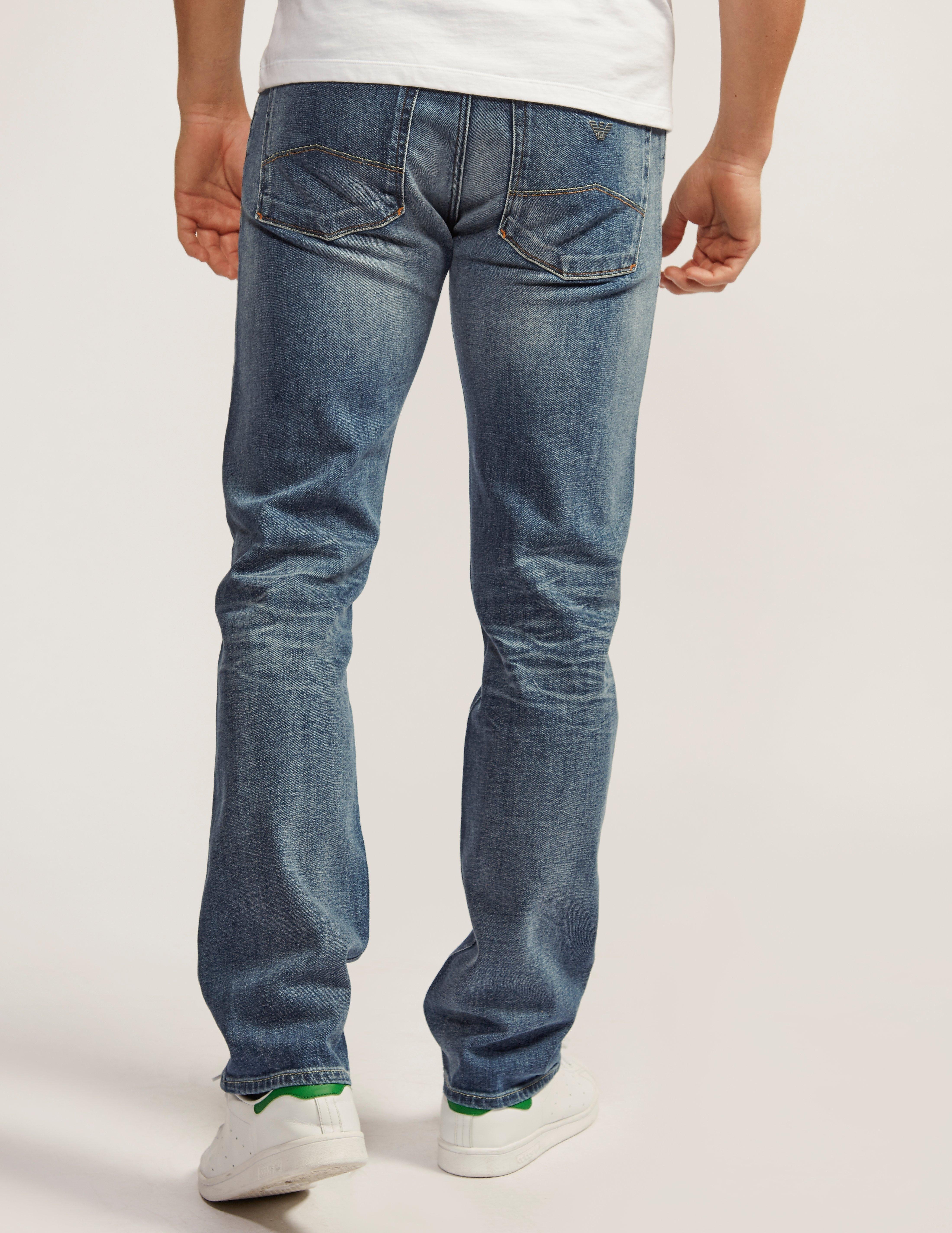 Armani Jeans J45 Straight Leg Regular Fit Jeans
