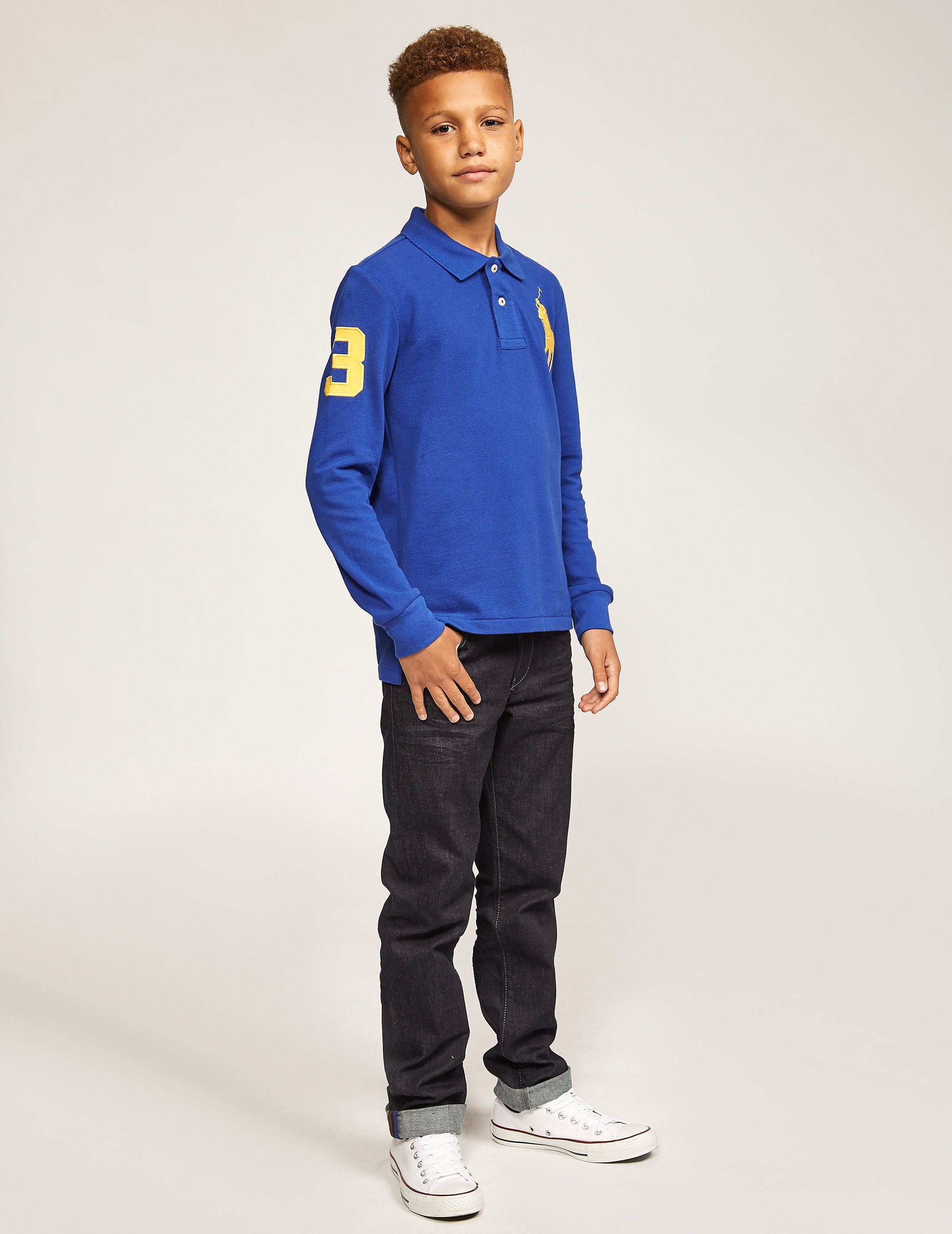 Polo Ralph Lauren Boys' Custom Fit Long-Sleeved Polo Shirt