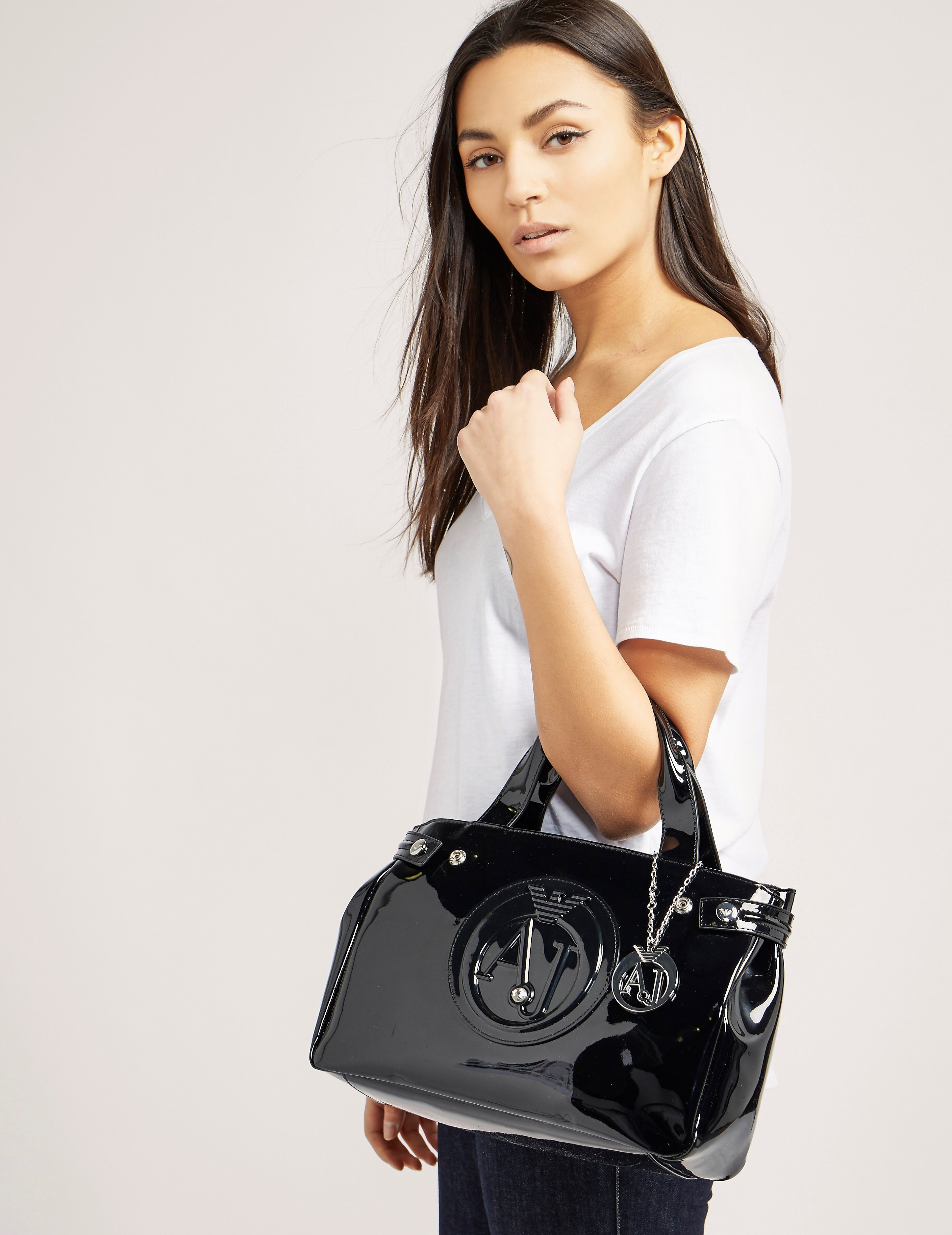 Armani Jeans Mini Patent Shopper