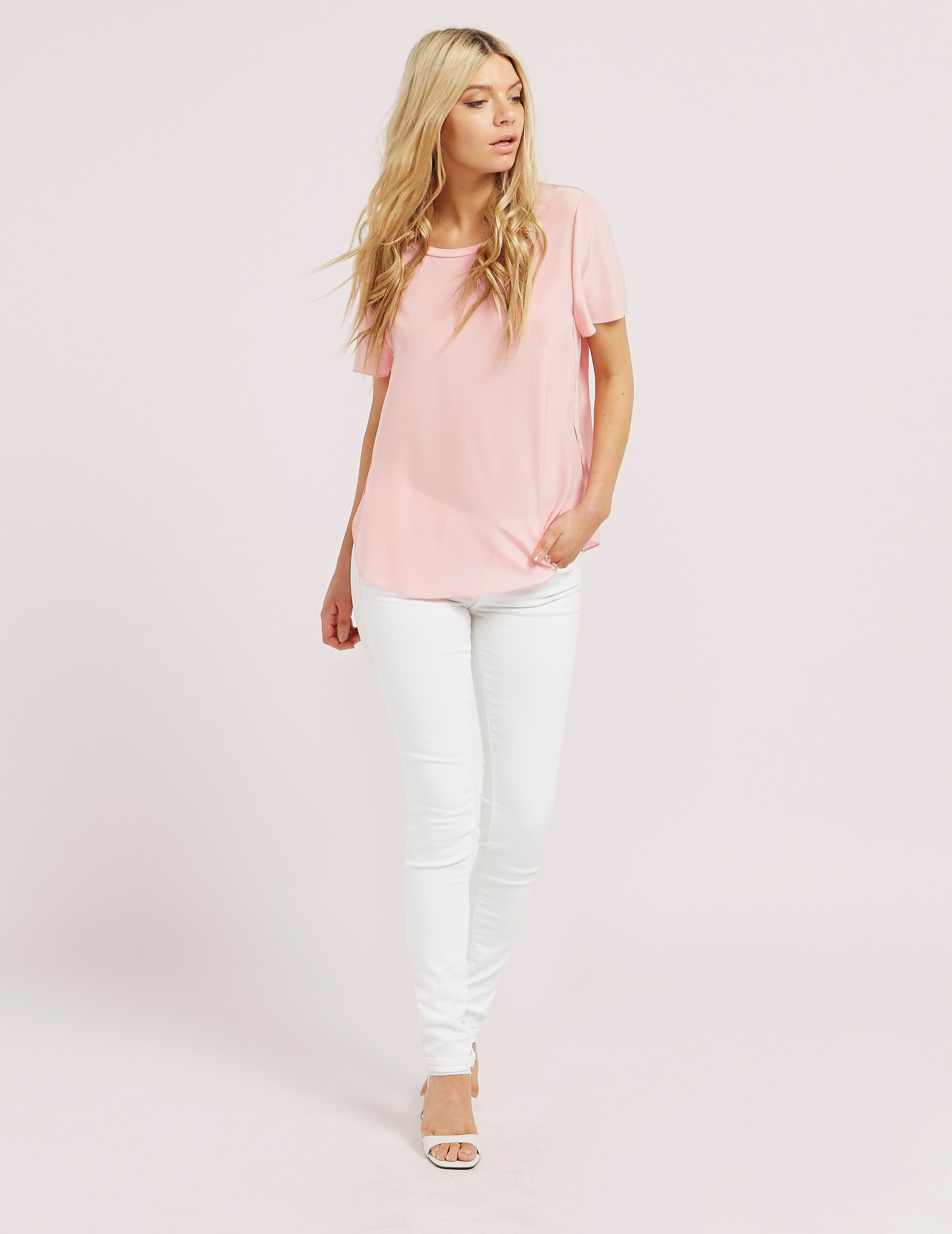 Armani Jeans Silk Short Sleeve Blouse