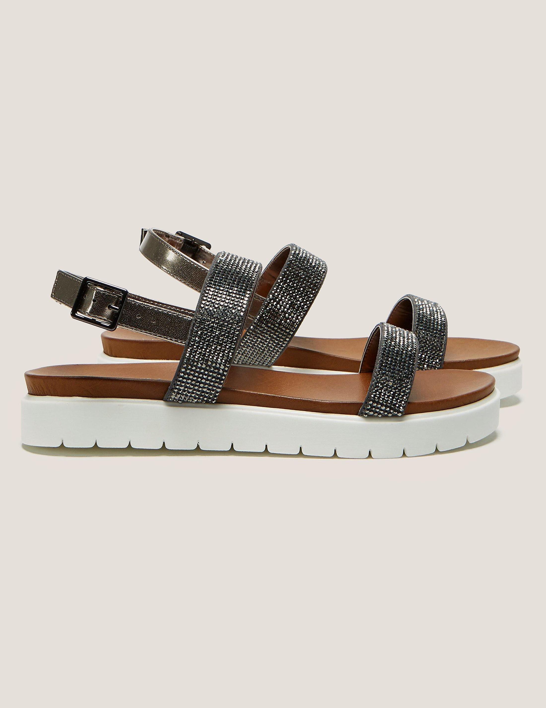 Ilse Jacobsen Diamonte Double Strap Sandal