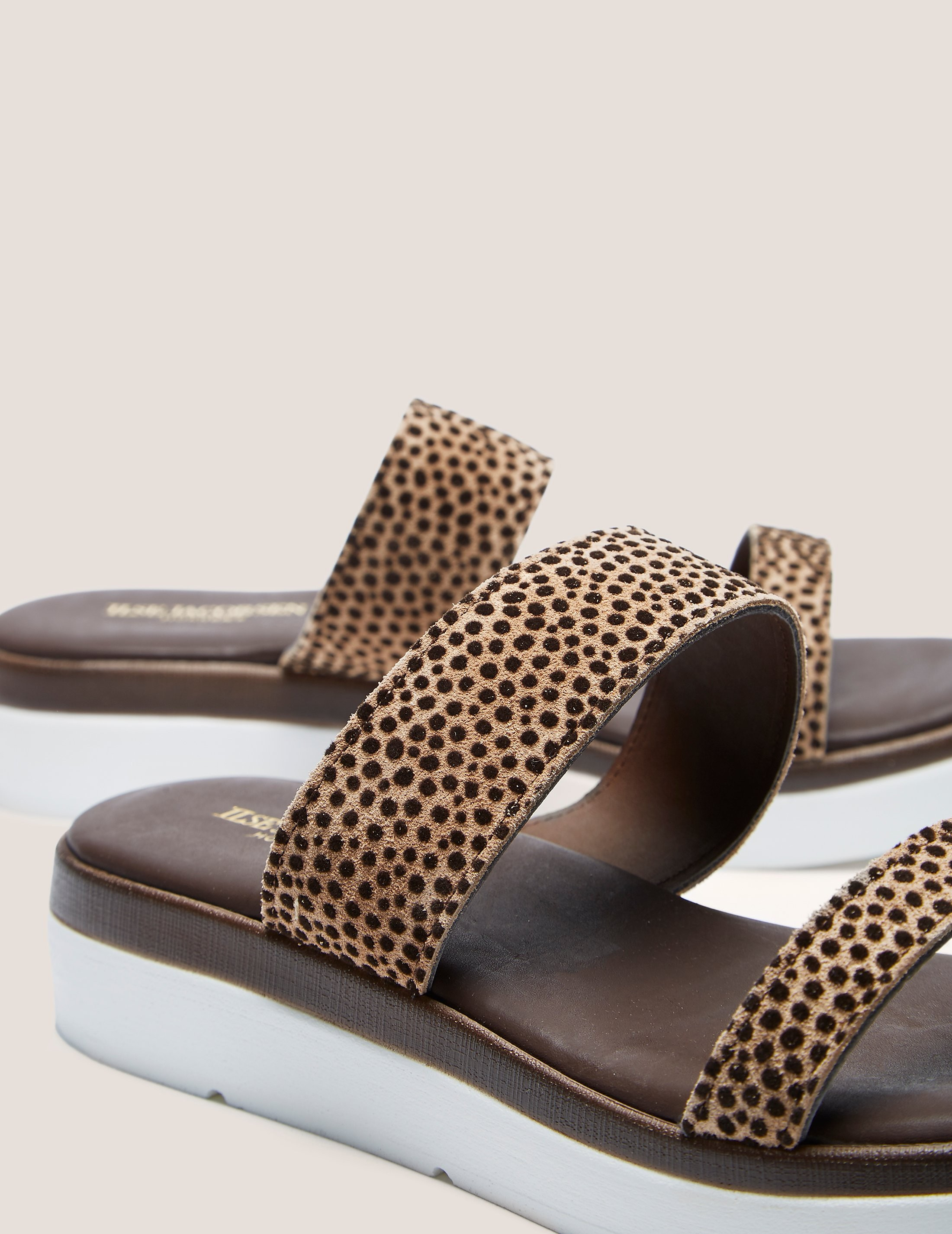 Ilse Jacobsen Animal Double Strap Slide