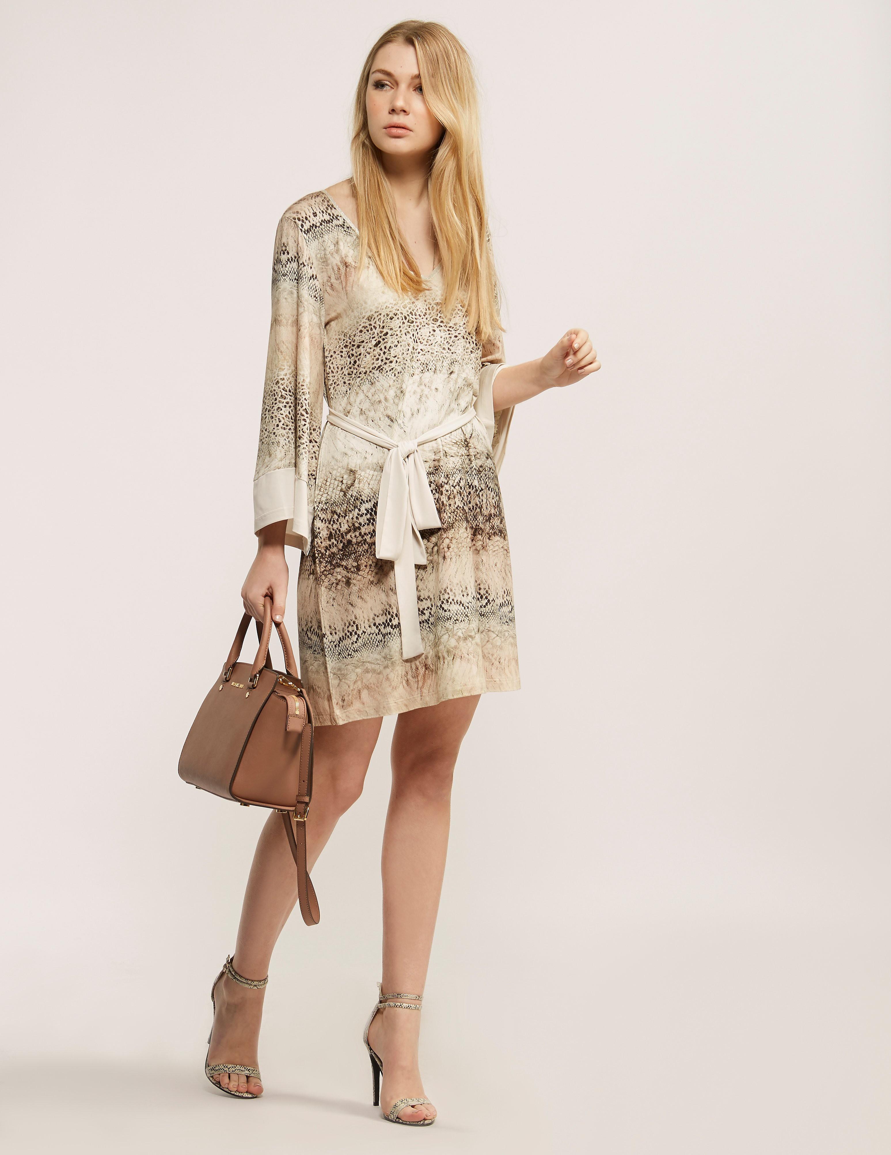 Ilse Jacobsen Animal Print Jersey Dress