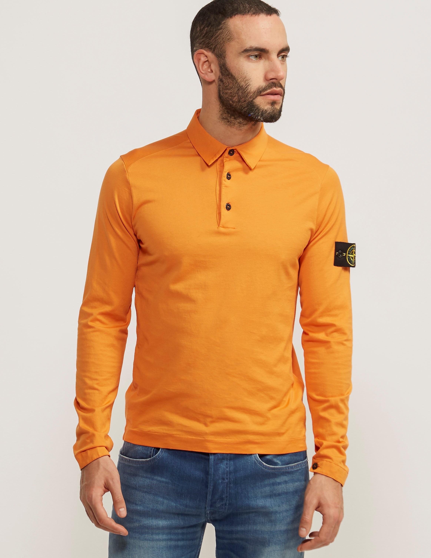 Stone Island Long Sleeve Mako Polo Shirt