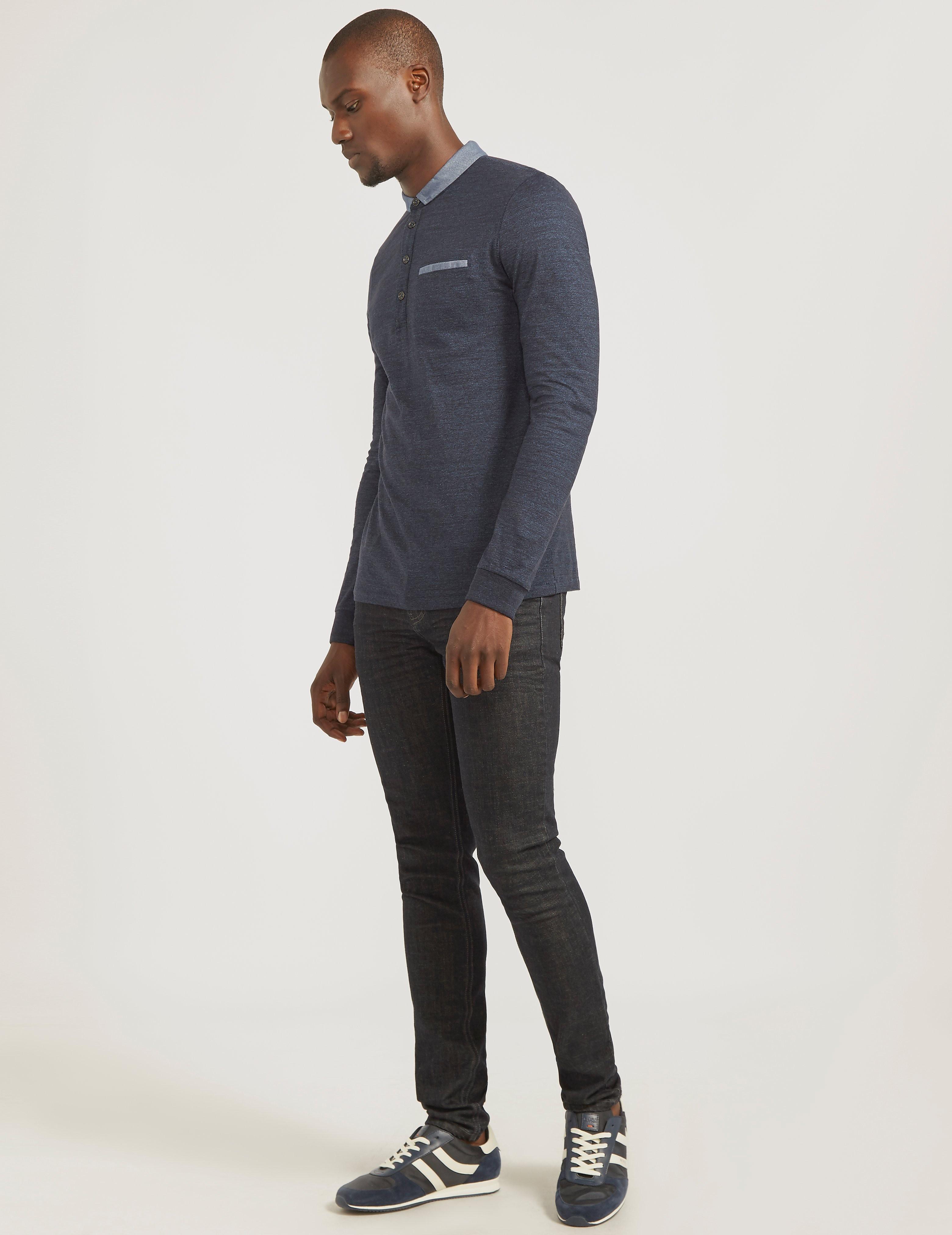 BOSS Orange Long Sleeve Polo